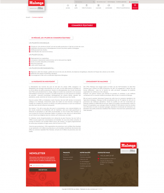Site e-commerce de Cuendet-Malongo - page 3