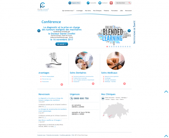 Site institutionnel - Pure Clinic - page 1