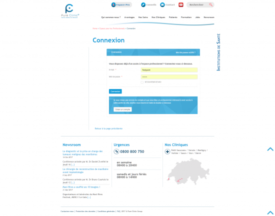 Site institutionnel - Pure Clinic - page 2
