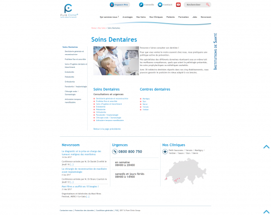 Site institutionnel - Pure Clinic - page 3